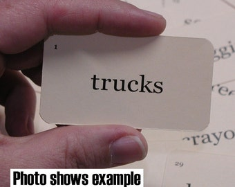 Custom 21 mini flash cards