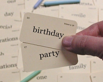 Mini Birthday Party Flash cards