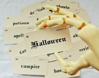 Mini Gothic Halloween flash card set
