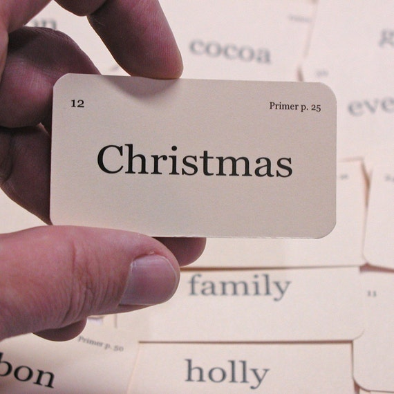 Mini Signs of Christmas flash cards