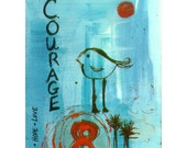 HUGE SALE 50% OFF Print - Courage Journal Page
