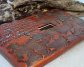 Ginkgo Leaf Switch Plate - Single - Copper