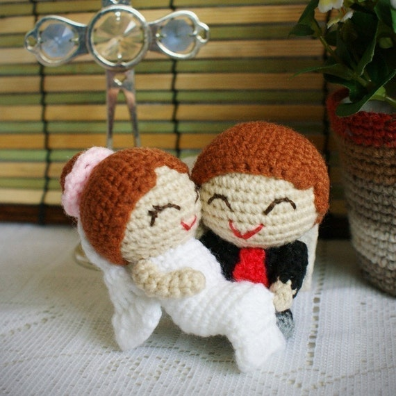 Amigurumi Free Pattern Couple : amigurumi wedding couple pattern the joyful matt and lindsay