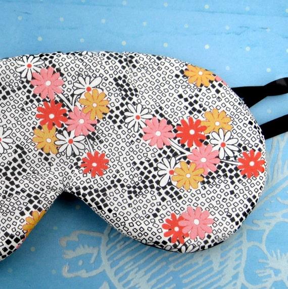 Luxury Silk Eye Mask  Fully Adjustable called Fifth Ave Flower Garden