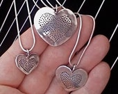 Recycled Quarter Heart Heart Pendant - Vintage US Silver Coin