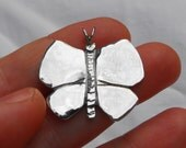 Butterfly Pendant made from Silver Half Dollar Coin