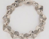 Heart Dots Bracelet made from Vintage Silver American Dimes