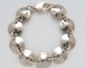 Circle Dots Bracelet made from Vintage Silver American Dimes