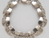 Square Dots Bracelet made from Vintage Silver American Dimes
