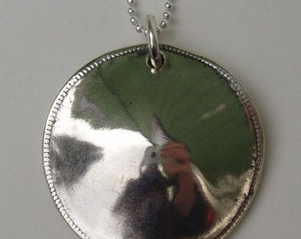 Circle Pendant made from Morgan Silver Dollar