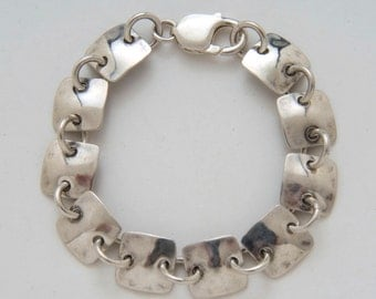 Squares Bracelet made from Vintage Silver American Dimes