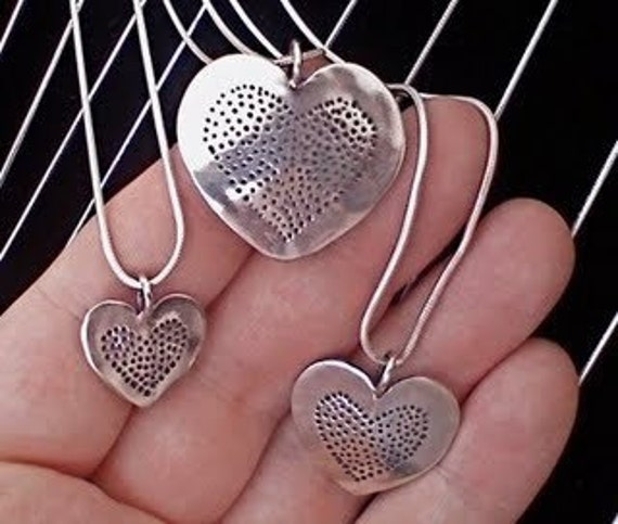 Silver Dime Heart Heart Pendant Made from Vintage US Silver Coin