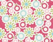 Sweet Divinity Fabric Floral on Pink 1 Yard by Riley Blake Designs  New