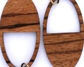 Ovular Zebrawood Earrings