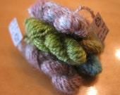 CUSTOM ORDER for Terrilee - 12 Mini Handspun and Hand-dyed Skeins of Wool Yarn