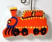 Mini Clay Doodle - Red Train  (with Bad Haiku)