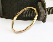 Gold Fill Ring - A Single Stackable Band in Gold Fill - Narrow Stacking Ring Handmade by Queens Metal