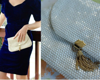 Coconut Grove 1960's 70's Vintage Sparkly Disco Handbag Clutch Purse with Gold Tassle by Lumwed