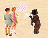 Kids and Bear - Limited Edition Print