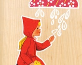 Girl and Rain Cloud - Limited Edition Print