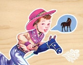 Cute Original Collage - i wish i could have a real horse