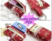 All in one zipper case cozy  pdf sewing pattern tutorial download DIY