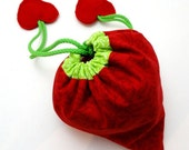 I Love Shopping Eco Strawberry Collapsible Bag or Tote PDF Sewing Pattern Tutorial DIY