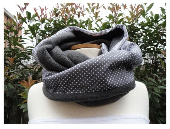DIY Fabric and Fleece Infinity Scarf and Neck Warmer 2 sizes