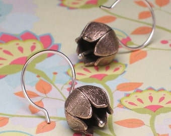 Bronze Lily of the Valley Earrings