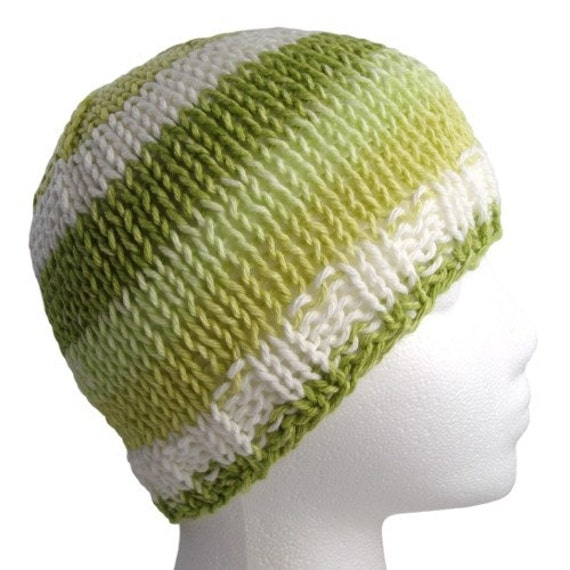 Spring Is In The Air Green Cotton Knit Hat