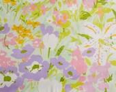 Vintage Sheet Fat Quarter - Tropical Multicolored Floral