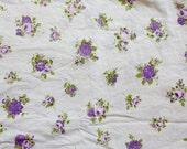 Vintage Sheet Fat Quarter - Purple Roses