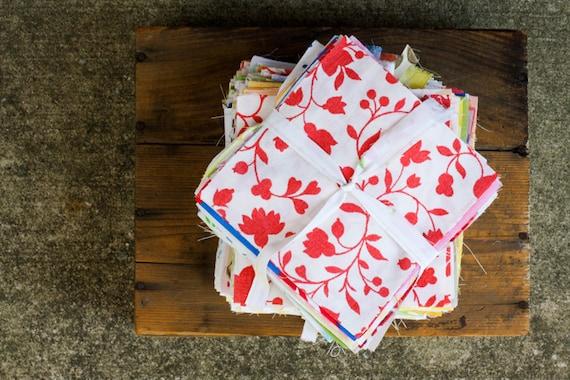 "Vintage Sheet Charm Pack - (40) 5"" squares"