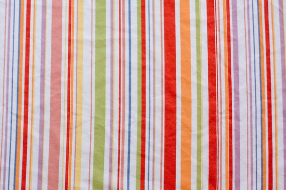 Vintage Sheet Fat Quarter -  Multicolored Stripe