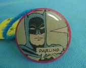 darling batman plastic kitsch comic book cocktail ring size 7