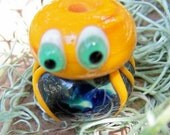 Peach the Lampwork Octopus Bead SRA