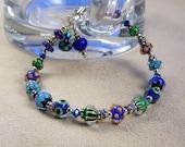 Petite Blue Lampwork Bracelet