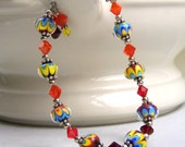 Petite Kaleidoscope Lampwork Bracelet