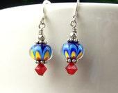 Petite Kaleidoscope Lampwork Earrings