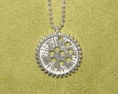 sterling silver spirograph necklace