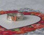 Thin HEART ring.