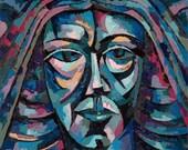 Masquerade - Aztec -  Fine Art Print  8 X 10 with Matting