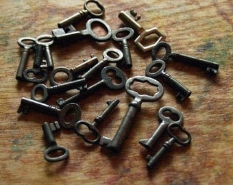 Five  Antique Skeleton Keys - Custom