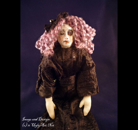 Decayed Beauty Violet Flapper Boudoir Doll by Ugly Shyla