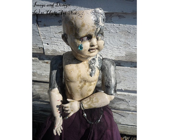 Zachariah,Struck Dumb Ball Jointed Handmade Art Doll By Ugly Shyla