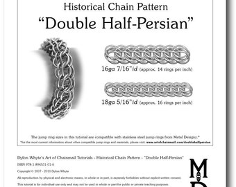 Chain Tutorial - Double Half-Persian Pattern - PDF