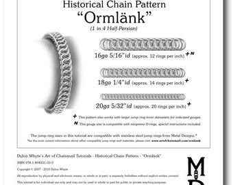 Chain Tutorial - Ormlank (1 in 4 Half-Persian) Pattern - PDF