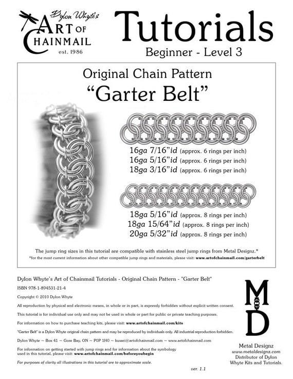 Chain Tutorial - Garter Belt - PDF