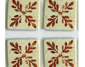 """Stone Drink Coaster Set of Four """"Where the red fern grows"""""""