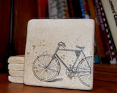 Drink Coaster set of four Vintage Bicycle
